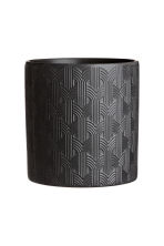 Stoneware plant pot - Black - Home All | H&M CN 1