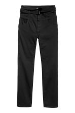 Twill trousers with a belt - Black - Ladies | H&M 2