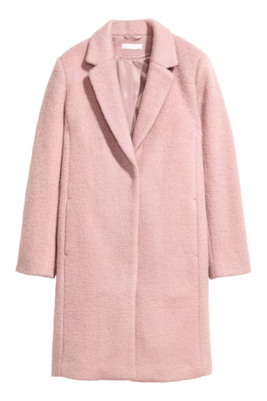 Short wool-blend coat - Old rose - Ladies | H&M GB