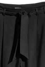 Trousers Loose fit - Black - Ladies | H&M 4