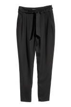 Trousers Loose fit - Black - Ladies | H&M 2