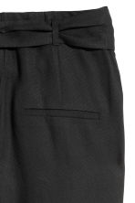Trousers Loose fit - Black - Ladies | H&M 3