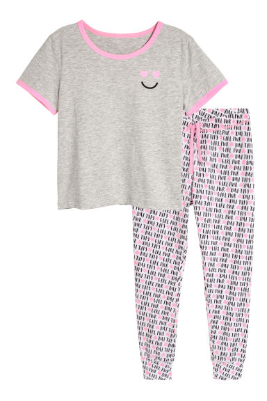 Pyjamas - Pink/Grey - Kids | H&M CN 1