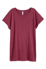 Lang T-shirt - Bordeauxrood - DAMES | H&M BE 2