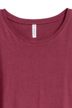 Lang T-shirt - Bordeauxrood - DAMES | H&M BE 3