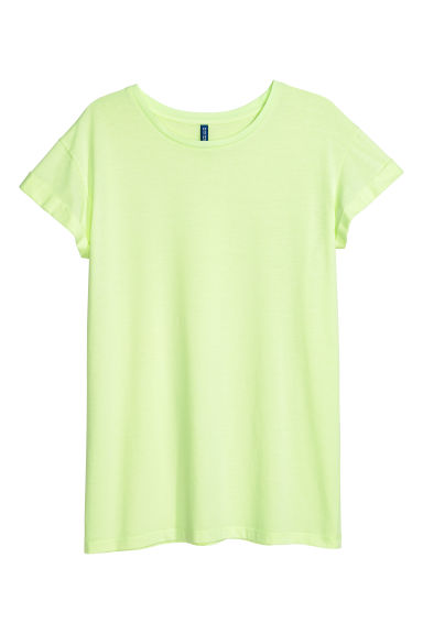 Lang T-shirt - Geel - DAMES | H&M BE 1