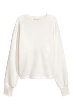 Sweatshirt with an opening - White - Ladies | H&M 2