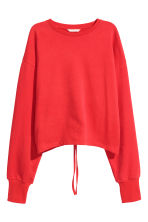 Sweatshirt with an opening - Red - Ladies | H&M CN 2