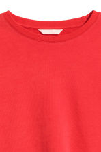Sweatshirt with an opening - Red - Ladies | H&M CN 3
