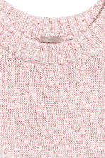 H&M+ Knitted jumper - Light pink marl/Glittery - Ladies | H&M 3