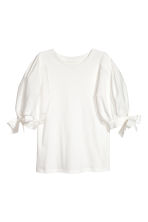 Balloon-sleeved top - White - Ladies | H&M 2