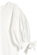 Balloon-sleeved top - White - Ladies | H&M 3