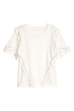 Wide top - Natural white - Ladies | H&M CN 2