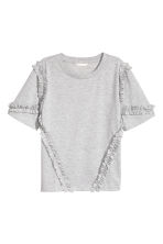 Wide top - Light grey -  | H&M 2