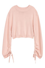 Jumper with a drawstring - Powder pink - Ladies | H&M CN 2