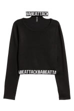 Choker-collar Sweater - Black - Ladies | H&M CA 2