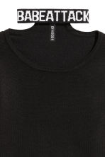 Choker-collar Sweater - Black - Ladies | H&M CA 3