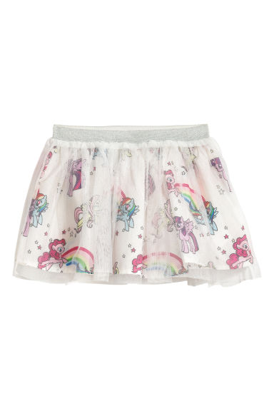 Tulle skirt with a print motif - White/My Little Pony - Kids | H&M CN 1