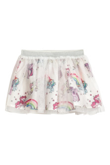 Tulle Skirt with Printed Motif