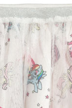 Tulle skirt with a print motif - White/My Little Pony - Kids | H&M CN 2
