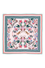 Patterned silk scarf - Pink -  | H&M CN 2