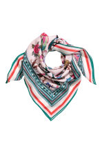 Patterned silk scarf - Pink -  | H&M CN 1