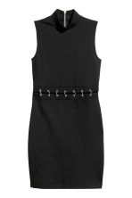 Fitted jersey dress - Black - Ladies | H&M 2