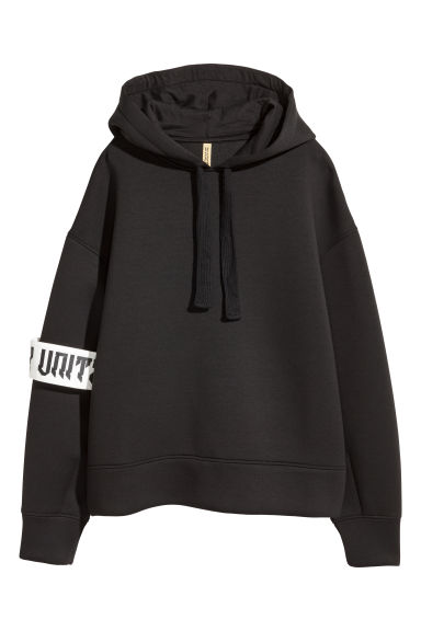 Scuba hooded top - Black - Ladies | H&M CN 1
