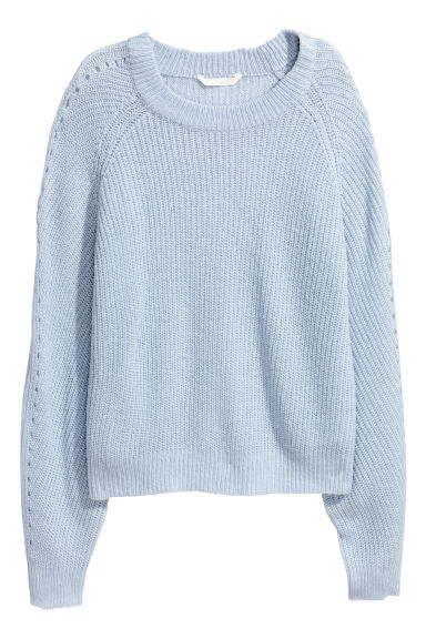 Ribbed jumper - Light blue - Ladies | H&M GB