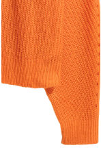Ribbed jumper - Orange - Ladies | H&M IE 3