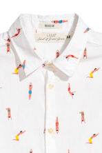 Short-sleeve shirt Regular fit - White/Patterned - Men | H&M 3