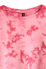 Cropped sweatshirt - Pink/Batik - Ladies | H&M 3