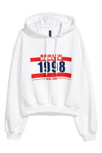 Short hooded top - White - Ladies | H&M 2