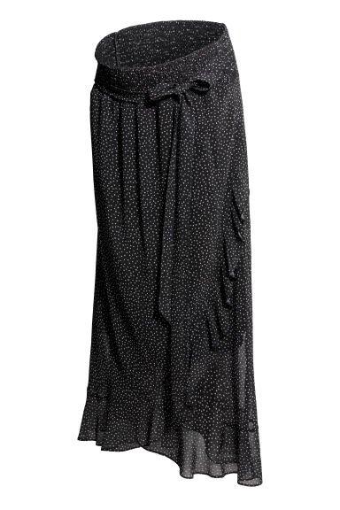 MAMA Patterned skirt - Black/White spotted - Ladies | H&M GB 1