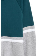Block-coloured sweatshirt - Petrol/Grey marl - Men | H&M IE 3