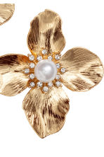 Flower-shaped earrings - Gold-coloured - Ladies | H&M 2