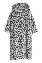 Fleece kaftan - Grey/Leopard print - Ladies | H&M 2