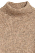 Knitted mohair-blend jumper - Camel - Ladies | H&M 3