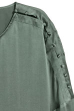 Silk blouse - Dusky green - Ladies | H&M IE 2