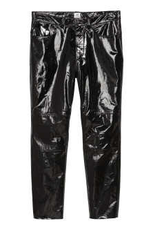 Leather-coated trousers