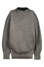 Wide jumper - Black/Glitter - Ladies | H&M IE 2