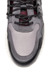 Suede and leather trainers - Burgundy/Grey - Men | H&M GB 3