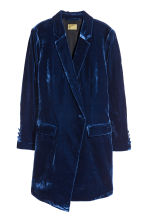 Velvet jacket - Dark blue - Ladies | H&M 2