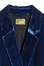 Velvet jacket - Dark blue - Ladies | H&M 3