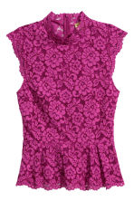 Lace top - Magenta - Ladies | H&M 2