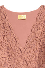 Lace V-neck dress - Dark powder pink - Ladies | H&M 3