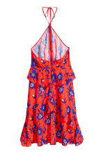 Patterned halterneck dress - Red/Floral - Ladies | H&M CN 3