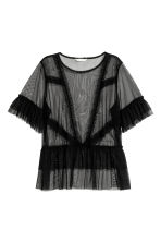 Top a volant in tulle - Nero - DONNA | H&M IT 2