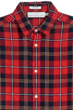 Checked shirt Regular fit - Red/Checked - Men | H&M 3
