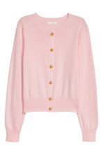 Fine-knit cotton cardigan - Pink - Ladies | H&M IE 2